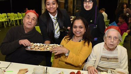 Pupils at the Isaac Newton Academy in Ilford organised a community day for older people in the area.