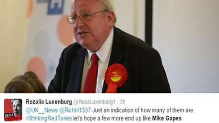 Ilford South MP Mike Gapes has been attacked by trolls since the news broke he was rushed to hospita