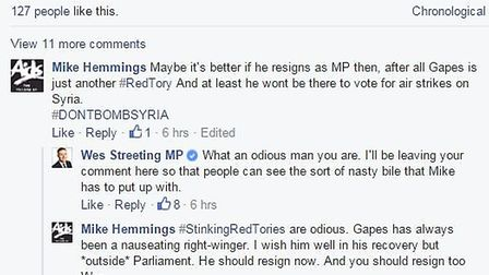 Ilford North MP Wes Streeting stands up to a troll who seemed pleased that Ilford South MP Mike Gape
