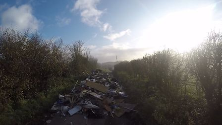 Fly-tipping in Little Gerpins Lane