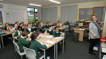 Rise Park Junior School opens new year 6 block it is aimed at preparing year 6 for year 7 and has al