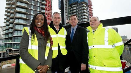 Glasshouse Gardens topping out ceremony