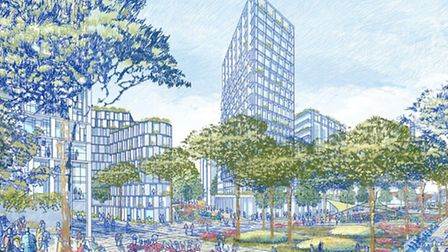 A new neighbourhood development in Canning Town will bring 3,500 homes to the area. Picture: City Ha