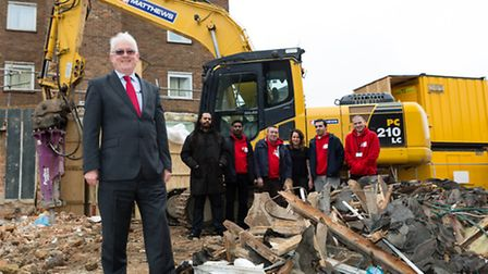 """Caritas Anchor House boss Keith Fernett on the contstruction site of the charity's planned """"move on"""""""