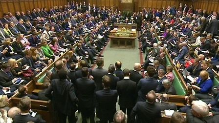 MPs gather in the House of Commons for a debate on extending the bombing campaign against Islamic St