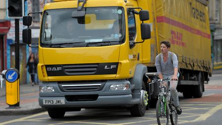 Many cyclists argue their lives are at risk from lorries under current traffic rules