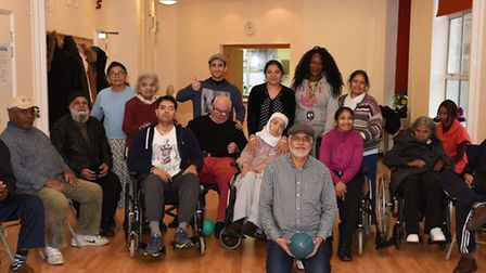 Abdul Shakoor (front, kneeling) helped to create the Newham Stroke Club at the Katherine Road Commun