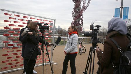 Jessica Ennis-Hill, Santander brand ambassador and Olympic gold medallist, launching the extension o