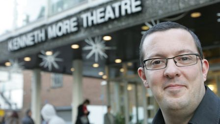 Director Steven Day at the Kenneth More theatre