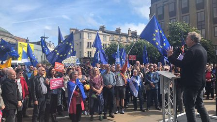 Steve Richards at the People's Vote rally in Edinburgh. Photograph: People's Vote/Twitter