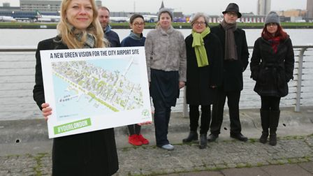 Green mayoral candidate Sian Berry launching her detailed plans to close London City Airport.