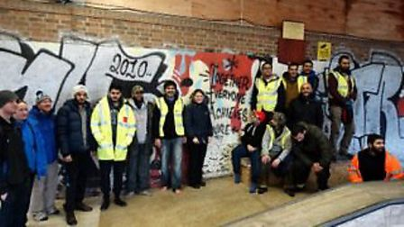 Members of Seven Kings Mosque who travelled to York to help flood victims. Photo: Shiraz Kothia
