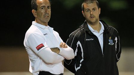 Redbridge joint managers Dave Ross and Ricky Eaton (pic: Gavin Ellis/TGSPHOTO)