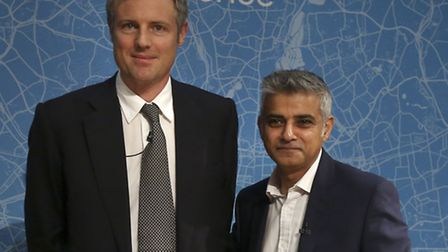 Mayoral candidates Zac Goldsmith (left) and Sadiq Khan (right) are both set to address the Newham Ch