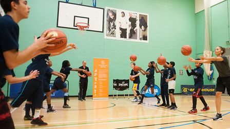 Students took part in a variety of drills (picture: C1 Photography)