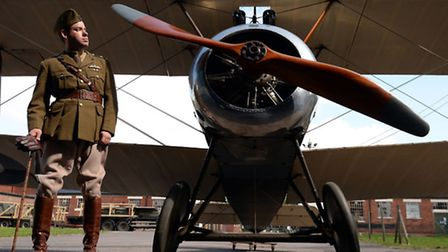 A Sopwith Camel aeroplane, the iconic British fighter of the First World War