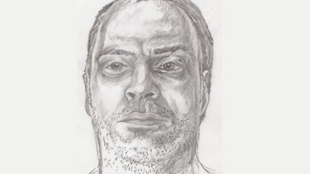 An artist's sketch of Kevin Holehan. Picture: MPS