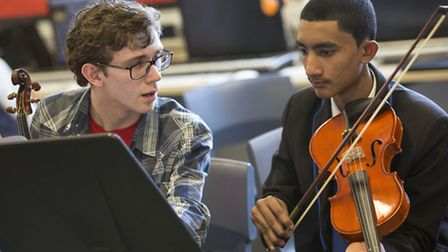 Students from Lister Community School and the National Youth Orchestra performed together (picture: