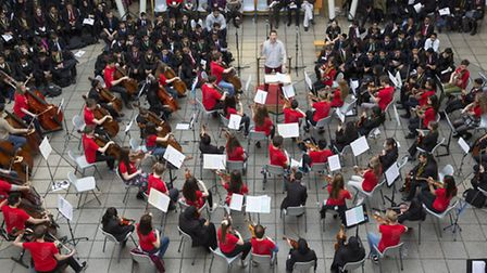 The National Youth Orchestra performing with Lister Community School students (picture: David Levens