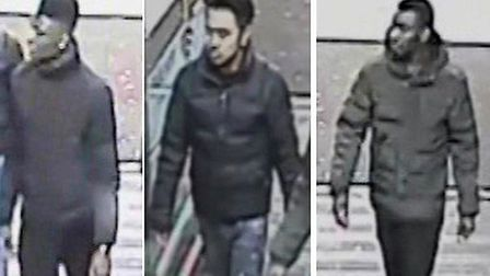 Have you seen any of these men, wanted by police in connection with an assault in Stratford?