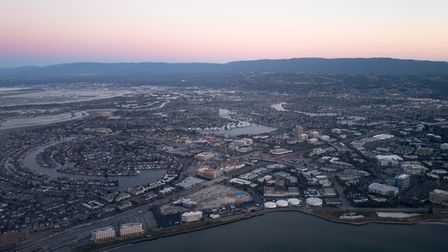 Aerial view of Silicon Valley. Photo: Getty Images.