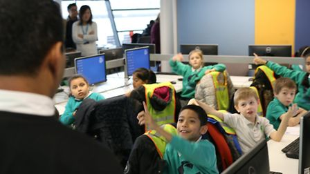 Students at the University of East London coding day (Picture: Dan Blackman)