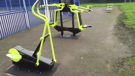 Outdoor gym equipment at Manford Park