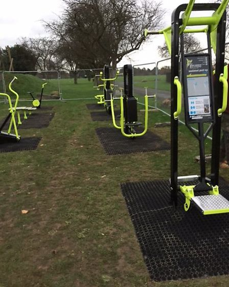 Outdoor gym equipment at Seven Kings Park
