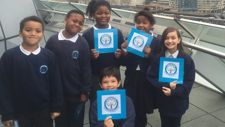 Pupils from Broadford Primary School pitched their plan for a kindness revolution at City Hall