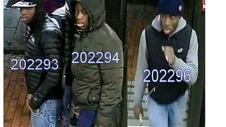 Do you know who they are? Police want to talk to these men in connection with a robbery