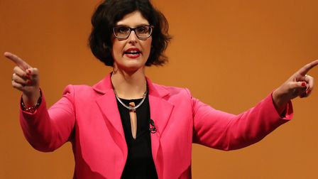 Layla Moran MP makes a speech at the Liberal Democrats conference at the Bournemouth International C