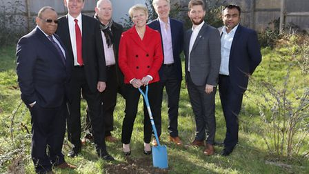 Groundbreaking ceremony at the site