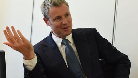Zac Goldsmith at the Recorder office