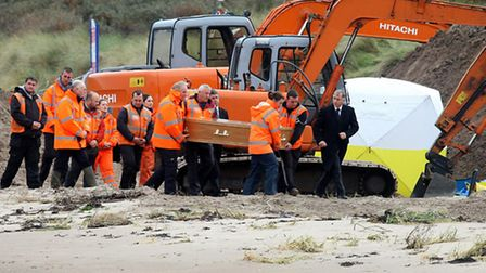 The remains of a body, believed to be that of the ninth so-called Disappeared victim Peter Wilson, a