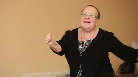 Helen Brown at the Dance to Health session at the Redbridge Jewish Community Centre