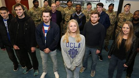 Potential new recruits attend the Army Recruiting Centre, London Road, opening day last Tuesday