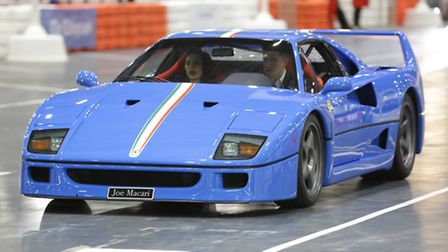 A legendary Ferrari F40 on show at the ExCeL.
