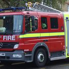 Four engines and 21 firefighters tackled the blaze