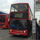The number 5 bus from Canning Town to Romford