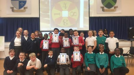 Pupils from Mead, Broadford and Pyrgo Priory Primary took part in a maths event. Photo: Malcolm Dra