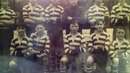 Ronald, front middle, played for West Ham boys' football club