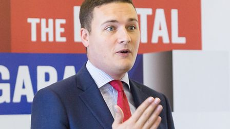 Wes Streeting MP speaking at a Google business seminar