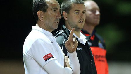 Redbridge joint-managers Dave Ross (left) and Ricky Eaton (pic: Gavin Ellis/TGS Photo)