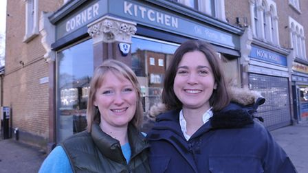 Owners Bethany Chellingworth and Misty Cudahy outside Corner Kitchen in Forest Gate