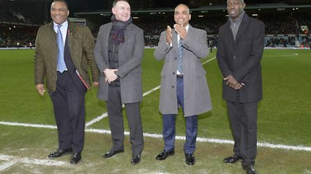 Former graduates of West Ham's Academy were special guests at the Aston Villa match (pic: whufc.com)