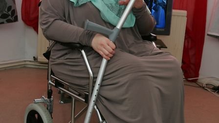 Tanya Monkman suffered a rare migraines which left unable to go out without her wheelchair. Photo: P
