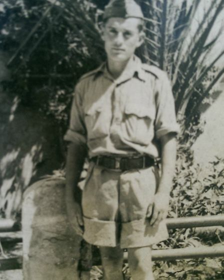 Mendel Popinski (aka Max Page) aged 23, a soldier in the Polish Reserve Army in Brzeziny, Poland bef