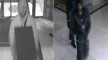 Police want to speak to these men in connection with a theft at Karamsar Gurdwara, High Road, Ilford