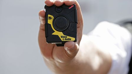 A body-worn video (BMV) camera, which was trialled by the Metropolitan Police last year. Redbridge P