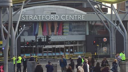 Shoppers have been evacuated from the Stratford Centre (picture: @AriCicurel)